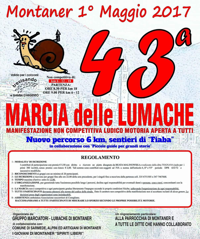 Volantino 43^ marcia delle Lumache